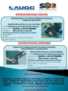 CARTEL JORNADAS DEFENSA PERSONAL AUGC Y SUP