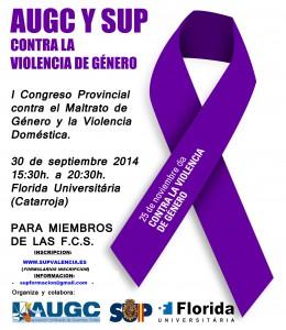 I CONGRESO PROVINCIAL MALTRATO DE GENERO Y VIOLENCIA DOMESTICA SUP-AUG