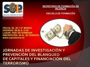 Jornadas de prevención e investigación del blanqueo de capitales y financiación del terrorismo